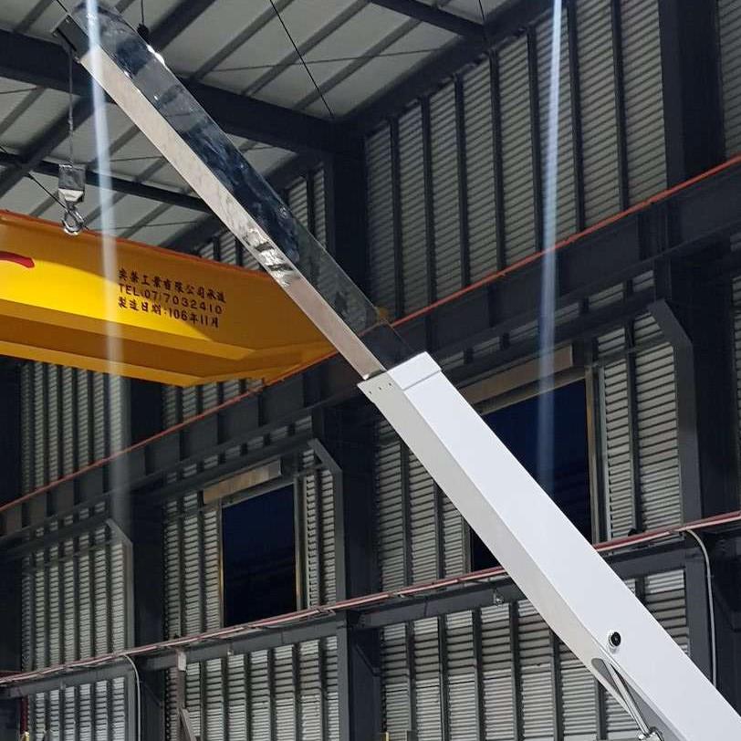 Designing tender crane for Ocean Group, Taiwan